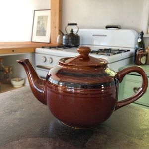 Antique Yellow Ware Teapot